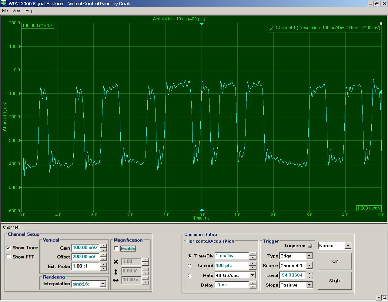 WDM 5000 Signal Explorer Software